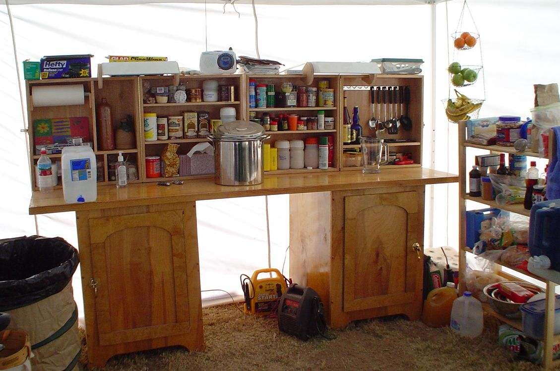 Wooden Camp Kitchen http://research.fibergeek.com/encampment/
