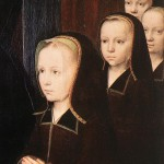 Triptych of Jean Des Trompes (detail), by Gerard David, 1505, Oil on wood, Groeninge Museum, Bruges